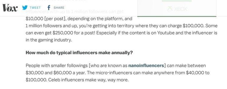 Influencer Pay