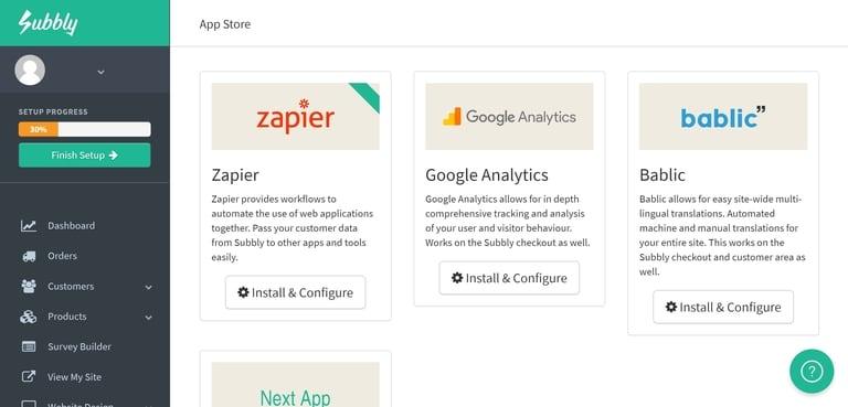 Subbly's App Catalog