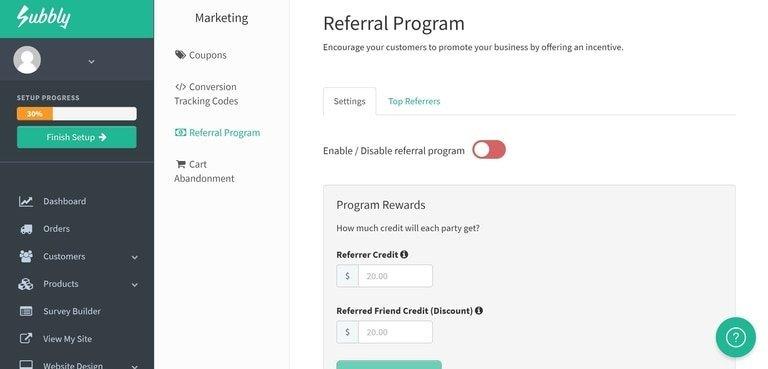 Subbly Customer Referral Program